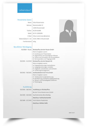 lebenslauf muster 38 kostenlose vorlage lebenslaufmuster4 - Lebenslauf Muster Word Kostenlos