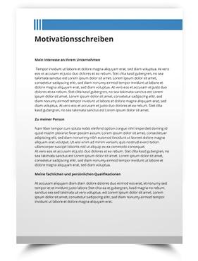Die Dritte Seite In Der Bewerbung Motivationsschreiben Kurzprofil