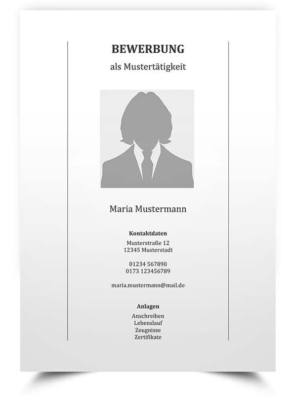 Bewerbungsvorlage Deckblatt Für Mac Lebenslaufmusterde