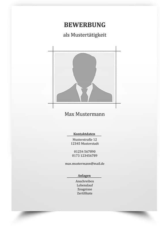 deckblatt 2 - Bewerbung Muster Download