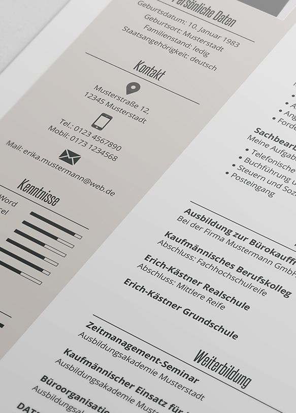 Premium Pewerbungsdesign 2 Detail