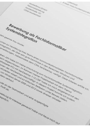 Bewerbung als Fachinformatiker Systemintegration Detail