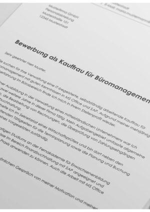 Bewerbung als Kauffrau für Büromanagement Detail
