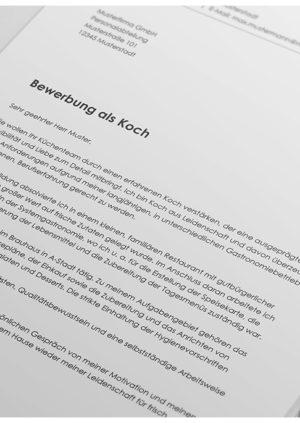 Bewerbung als Koch / Köchin Detail