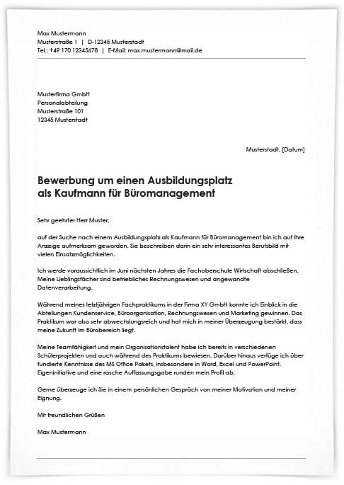 ᐅ Bewerbungsschreiben Kaufmann Frau Fur 10