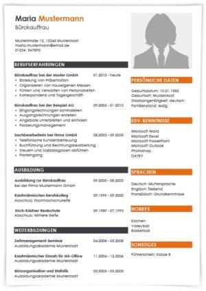 Lebenslauf Rechtsanwaltsfachangestellte