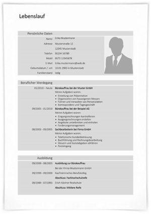 Lebenslauf Bürokauffrau