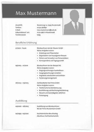 Lebenslauf Kauffrau Büromanagement
