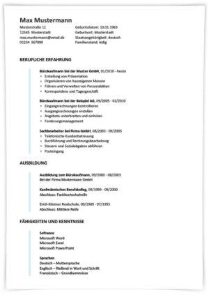 Lebenslauf Anlagemechaniker