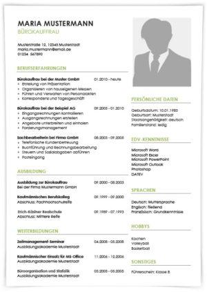 Lebenslauf Kaufmann für Büromanagement