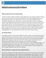 Bewerbung Motivationsschreiben